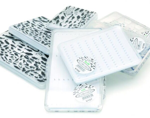 Caja de moscas Transparente Castor Vision Ninfas 3 Modelos