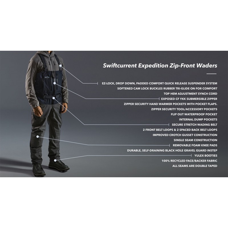 Vadeador Patagonia Swiftcurrent Expedition Zip Front Waders 2020