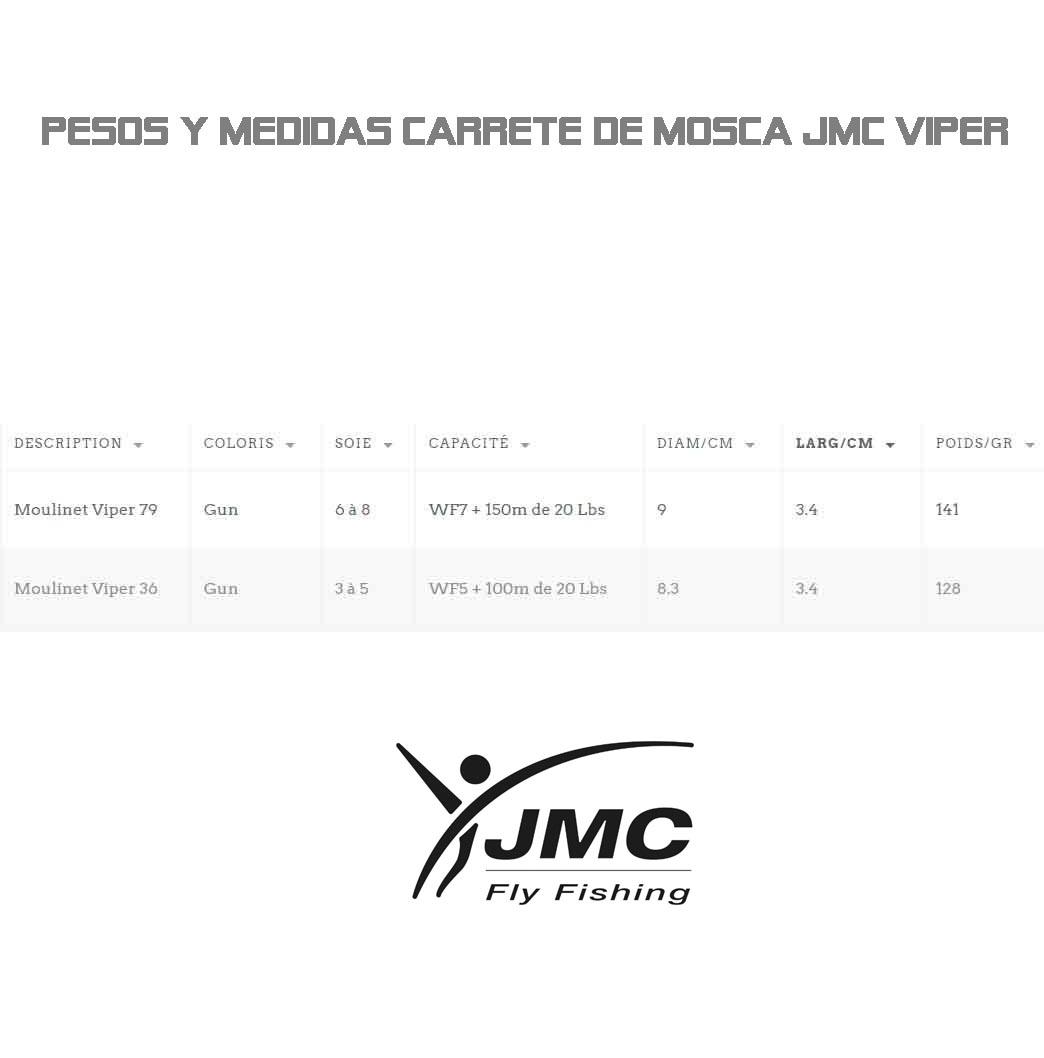 CARRETE JMC VIPER PESCA MOSCA